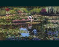 Tending To The Lillies-Giverney